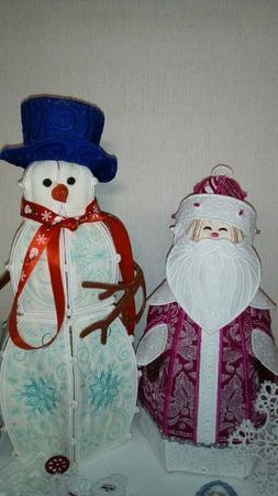 Фото. Дед Мороз и Снеговик. Автор работы - tosja73