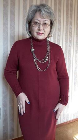 Фото. Машинное вязание. Платье из семеновской полушерсти.  Автор  работы - olgaSu