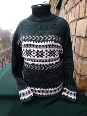 Фото. Мужской свитер с жаккардом.   Автор работы - Димарина