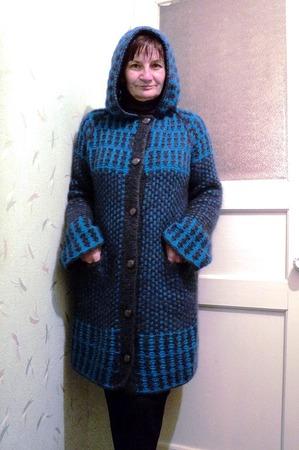 Фото. Синее зимнее... пальто!  Автор  работы - RedSwet