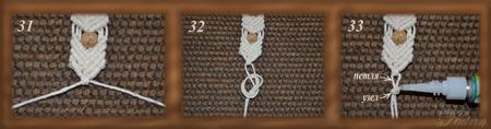 Мастер-класс. Плетём браслет в технике макраме с нуля.