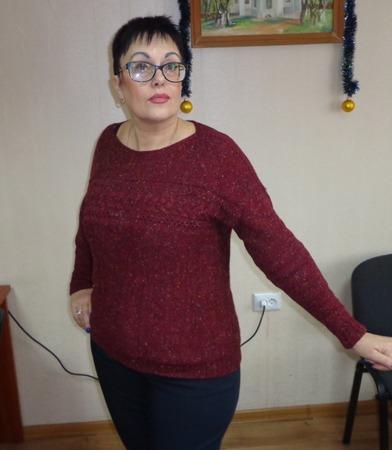 Фото. Джемпер NATSUMI, БРУКЛИН ТВИД WOLL PEOPLE 7. Машинное вязание. Автор работы - Aelin