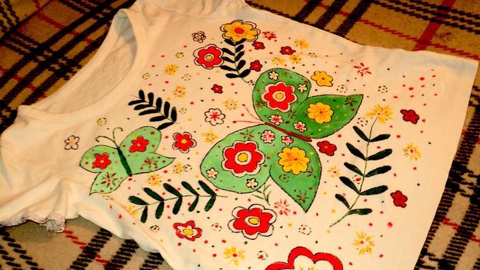Фото. Разрисованные футболки. Автор работы - _ИнкаУкраинка_