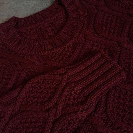 Жемчужных ромбов парад - свитер спицами