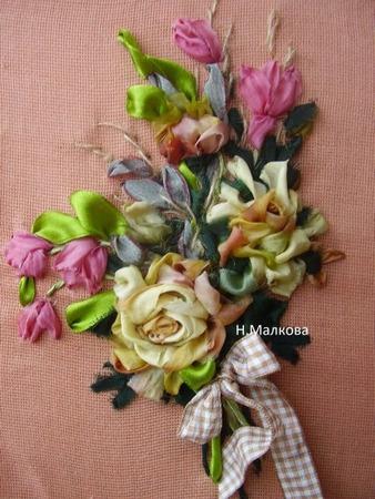 Фото. Розы. Вышивка лентами! Автор работы - Гош