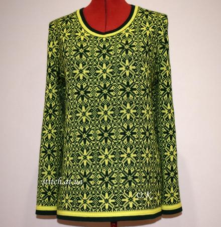 Фото. Норвежский свитерок. Машинное вязание. Автор работы - Radana