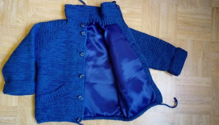 Фото. Вязаная курточка для юного джентльмена.  Автор работы - Лана 39