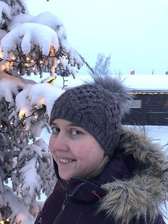 Фото. Шапка бини с косами Pavo.  Автор работы - elenashepkova