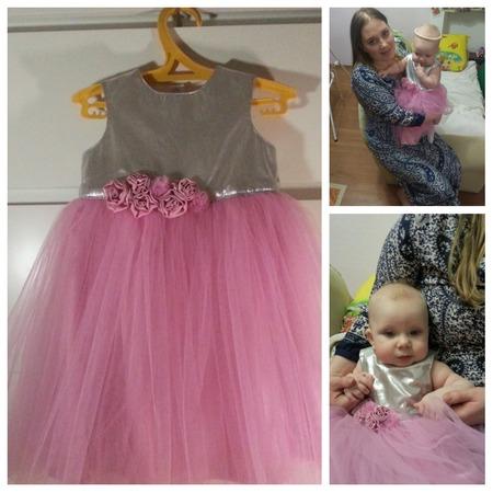 Фото. Первое праздничное платье для внучки. Автор работы - Ollga44
