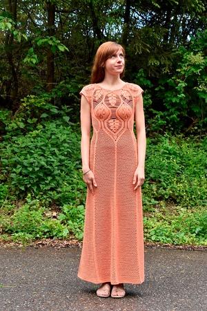 Фото. Платье из хлопка с акрилом. Автор работы - fusha