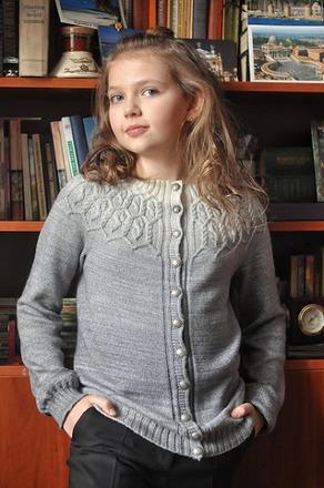 Фото. Autumn Whirlpool Cardigan для дочки.  Автор работы - nata_kiev