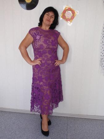 Фото. Платье в технике ирландского кружева из итальянского хлопка.  Автор работы - agnimila