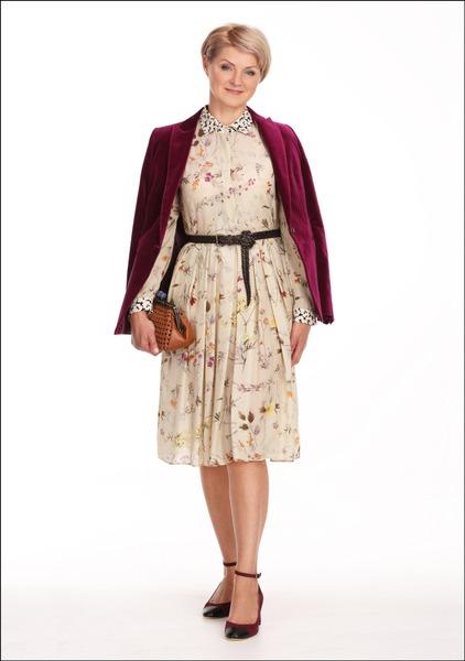 Комплект №3 . Жакет и туфли – Massimo Dutti. Платье, пояс и сумка-кошелек – MaxMara Weekend