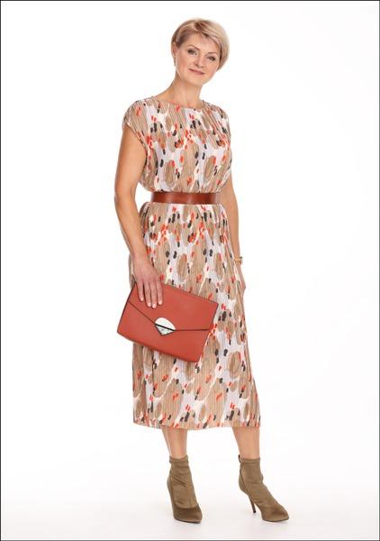 Комплект №4 . Платье и пояс – Lindex. Ботильоны – H&M. Клатч – Parfois