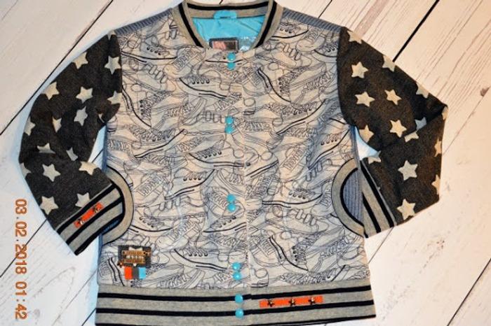Фото. Утилизация остатков - трикотажная курточка.   Автор работы - Oxana1980