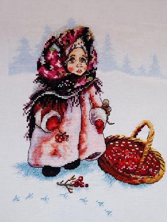 """Фото. Вышивка """"Студеная пора"""", ткань мурано. Автор работы - skorodumova"""