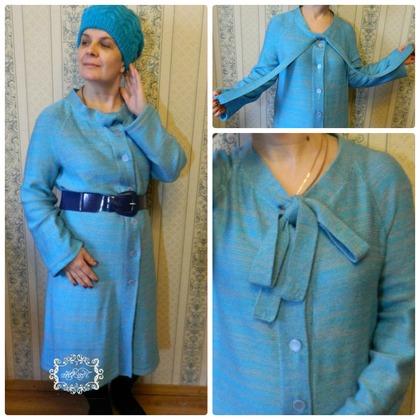Фото. Пальто, машинное вязание. Автор работы - Pljuscha