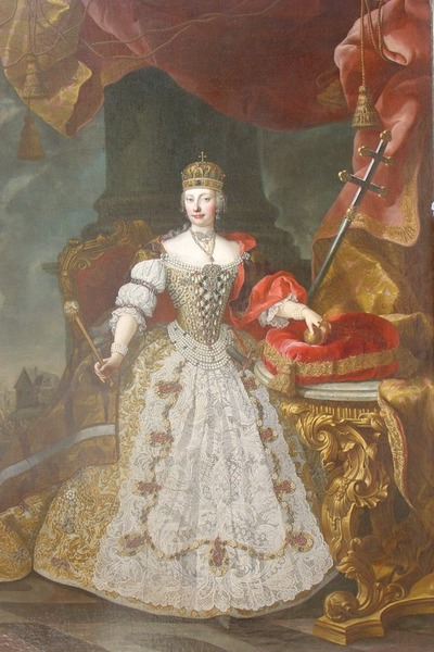 "Фото. Daniel Schmiddely (1705-1779) ""Portrait of Empress Maria Theresa"""