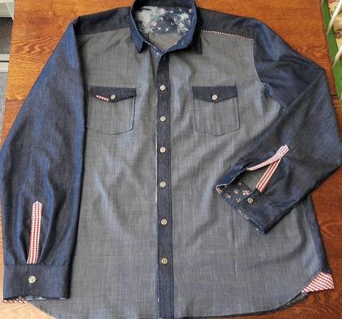 Фото. Рубашка из остатков джинсы.  Автор работы - Наталья-я