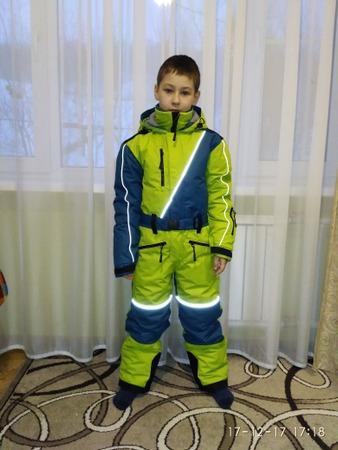 Фото. Зимний комбинезон для сына.   Автор работы - IvlevaAnna