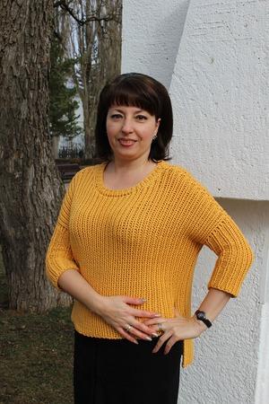Фото. Солнечный пуловер из Cashsilk Lana Grossa готов.  Автор работы - Ворсиночка