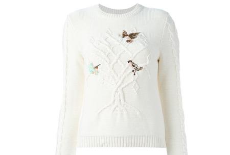 Red Valentino свитер с птичками