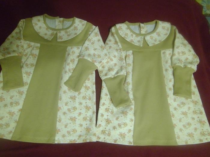Фото. Весенние платьица для внучек.  Автор работы - galina6950