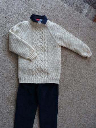 Фото. Пуловер сынку на вырост из полушерсти. Автор работы - Bth