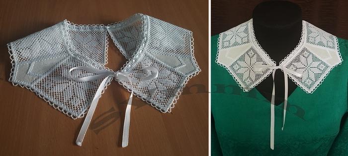 Фото. Воротнички. Машинная вышивка. Автор дизайна и работы - svmmm