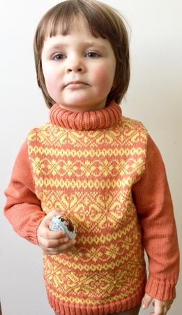 Фото. Свитер для дочери, шерсть Lana gatto harmony. Машинное вязание .Автор работы - Инна1206
