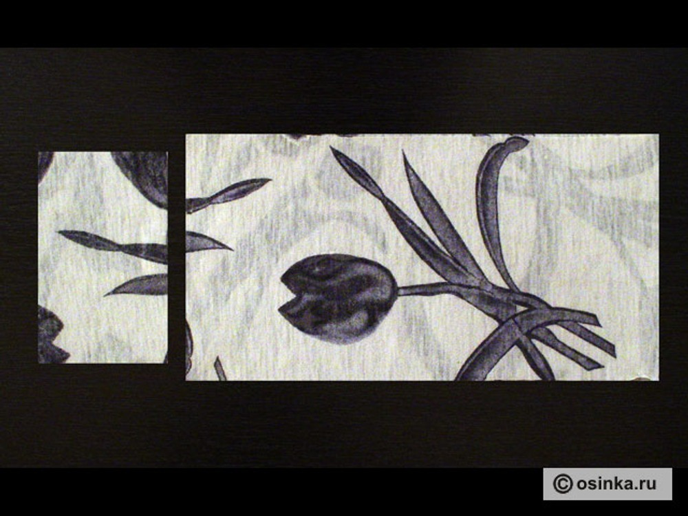 02. Из сложенной вдвое ткани выкраиваем два прямоугольника : манжета -10 х 16см и носок-35 х18см.