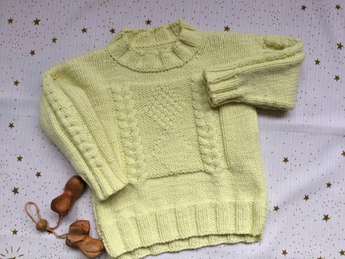 Фото. Модель Izaiah's Pullover by Kim Barnette.  Автор работы - Сахарная