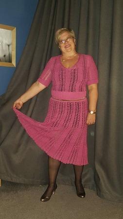 Фото. Дуэт крючка и спиц винтажное платье от Maйкл Корс.  Автор работы - Ely7