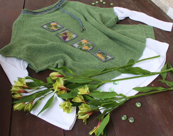 Фото. Про весну. Джемпер или туника оверсайз из Silk Tweed.  Автор работы - innasun