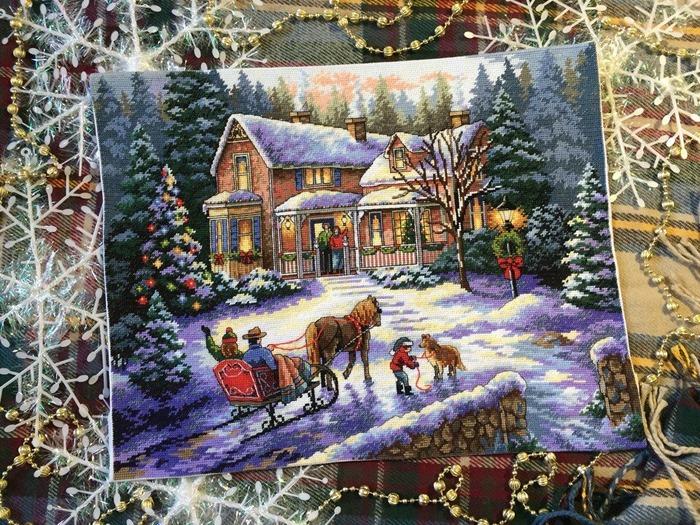 Фото. Зимние вышивки. Автор работы - Юли4ка 75