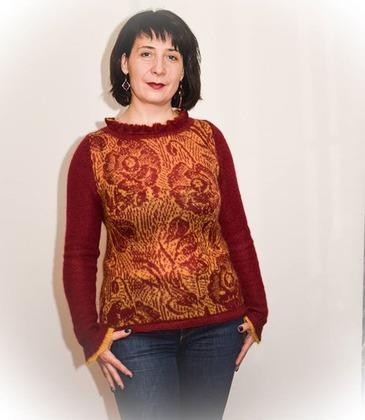Фото. Пуловер из кидмохера Camelot. Автор работы - regzet