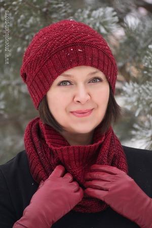 Фото. Шапочка по мотивам Dustland Hat от Stephen West и снуд.  Автор работы - Lana Lita