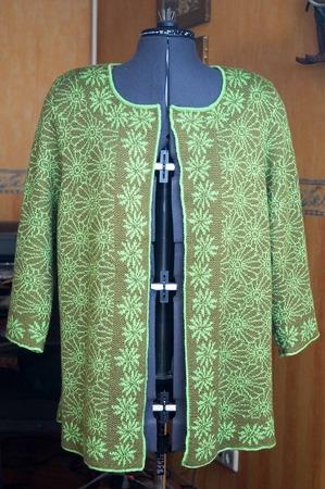 """Фото. Жакет """"Хризантемы"""": Машинное вязание. Автор работы - ealuneva"""