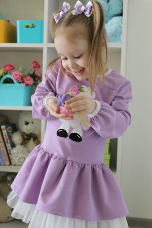 Фото. Платье из футера 2-нитки с лайкрой.  Автор работы - cvetok1977