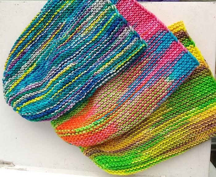 Фото. Крутецкие, цветные, мериносовые шапульки. Автор работы - fire82
