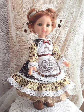 Фото. Фартук кукле. Машинная вышивка. Автор работы - AnnaLila