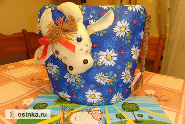 "Фото. Грелка на чайник ""Корова"" сшита из веселого ситца. Автор - Юлия2014"