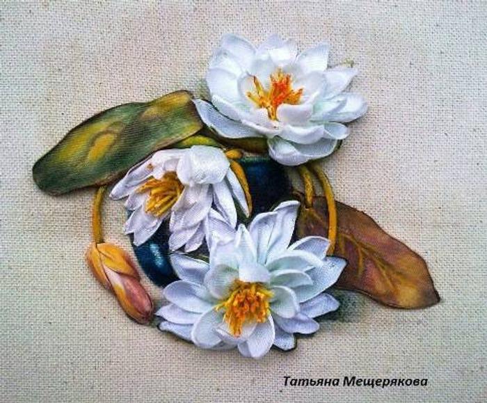 """Фото. Вышивка """"Водяные лилии"""". Автор работы - raduzka"""