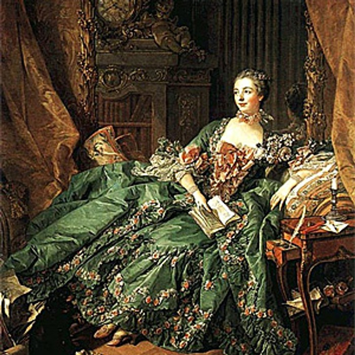 "Фото. Франсуа Буше (1703–1770), ""Портрет маркизы де Помпадур"""