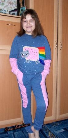 Фото. К 8 марта в подарок дочке костюм.  Автор работы - мамочкаИрочка