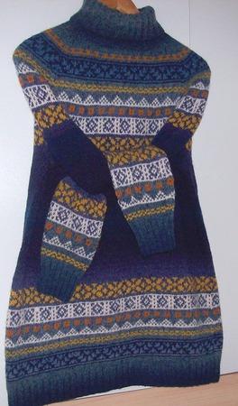 Фото. Из  Жаккардовый свитер из дундаги 6/1 с добавлением мериноса.  Автор  работы - Тьюлип