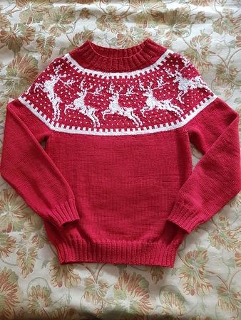 Фото. К концу сезона - традиционный свитер с оленями! Автор  фото - elenashepkova