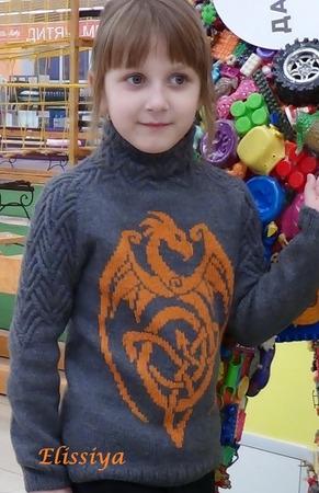 Фото. Свитшот DRAGON для всех любителей и почитателей драконов. Автор  фото - elissiya