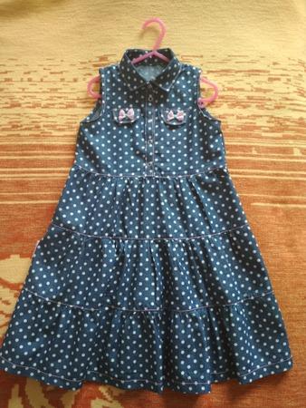 Фото. Платье из тонкой плательной джинсы.  Автор работы - mova