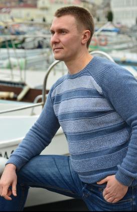 Фото. Мужской свитер из бобинного кашемира. Автор работы - mazepyla